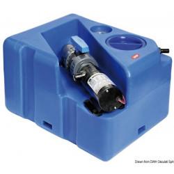 Horizontaler Abwassertank + Zerhacker 24V